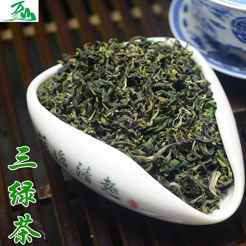 Rizhao green tea 2016 new tea dry tea at the end of green leaf green color green 500 grams 99 shipping mountains tea factory outlets