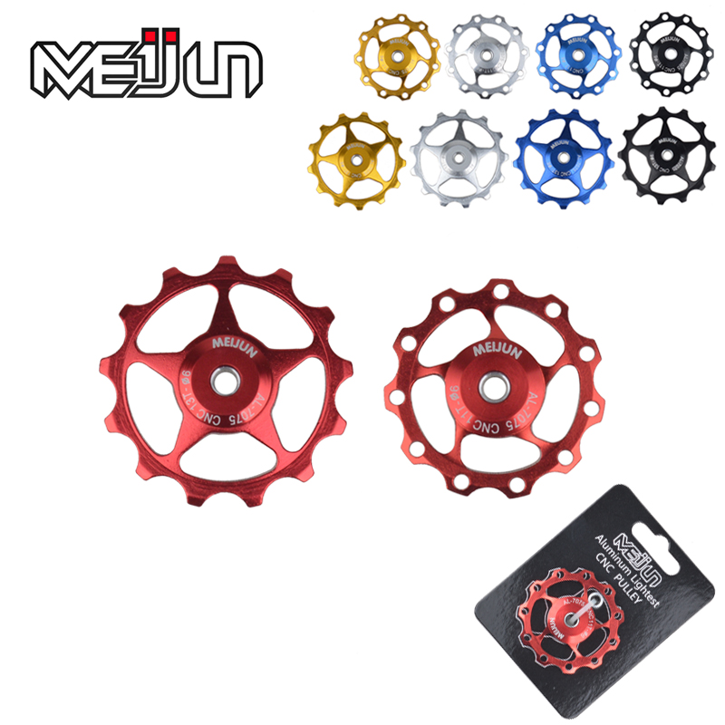 Road bike mountain bike 11 t/t aluminum alloy metal bearing guide wheel rear derailleur pulley tension pulley