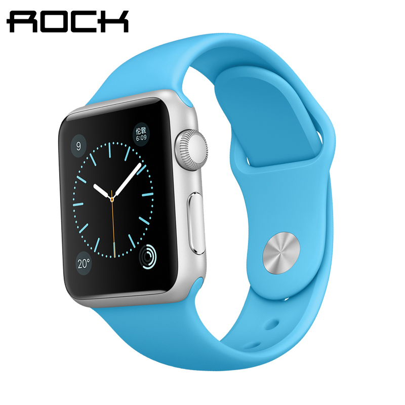 Rock apple apple iwatch sports silicone strap watch strap watch strap watch new men and women
