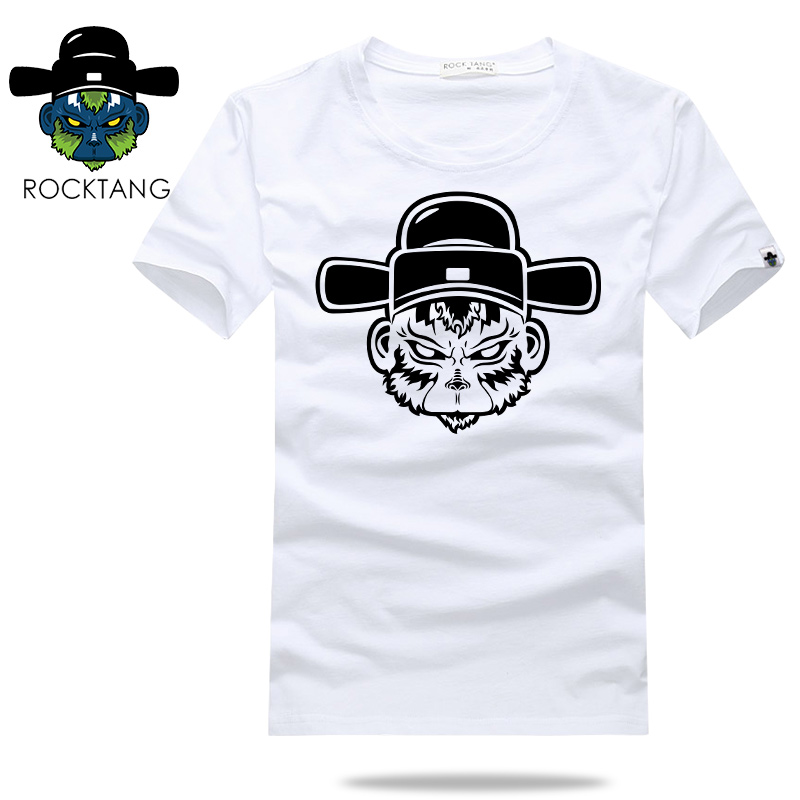 Rocktang/rock mr. tang tang new men short sleeve cotton t-shirt round neck short sleeve personality