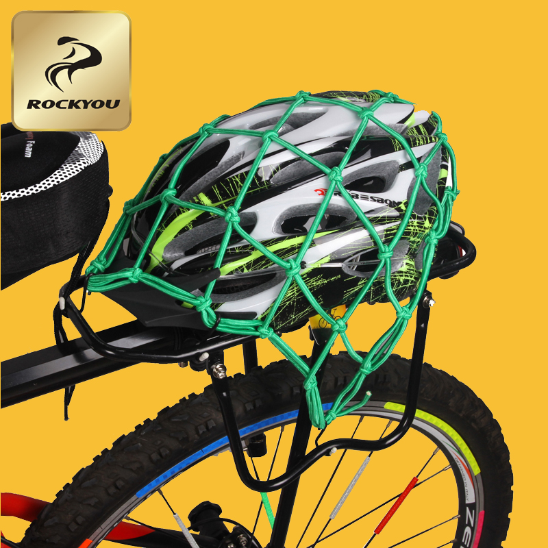 Rockyou bold increase bicycle helmet bicycle helmet tank mesh bag net bag net bag tied with a cargo cargo net bag