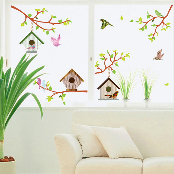 Romantic wall stickers romantic bedroom living room children's room wall stickers tv background wall stickers room decor