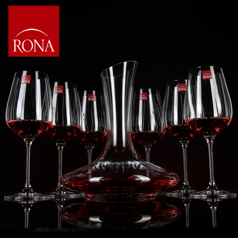 Rona czech import unleaded crystal glass wine glass of wine with a high cup wine glass of red wine decanters suit