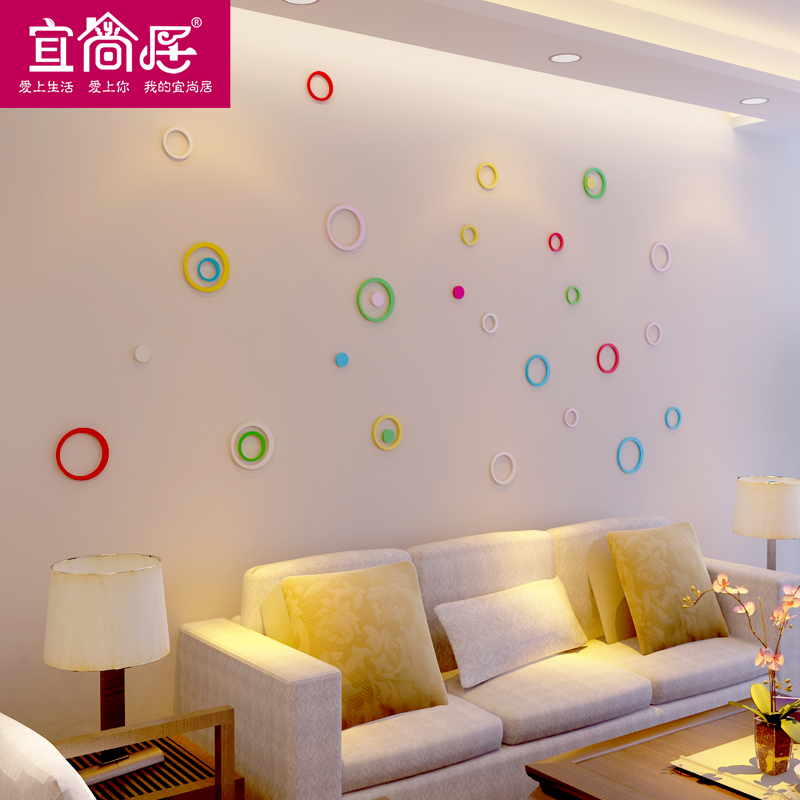 Room decorations wall stickers stereoscopic 3d stereoscopic wall stickers wall decoration backdrop decorative wall stickers living room bedroom shipping
