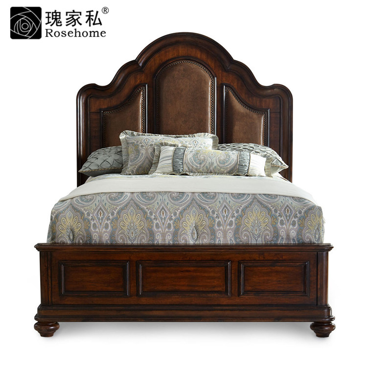 Get Quotations Rose American Bedroom Furniture Custom Wood Double Bed 1 5 8 M H Cb