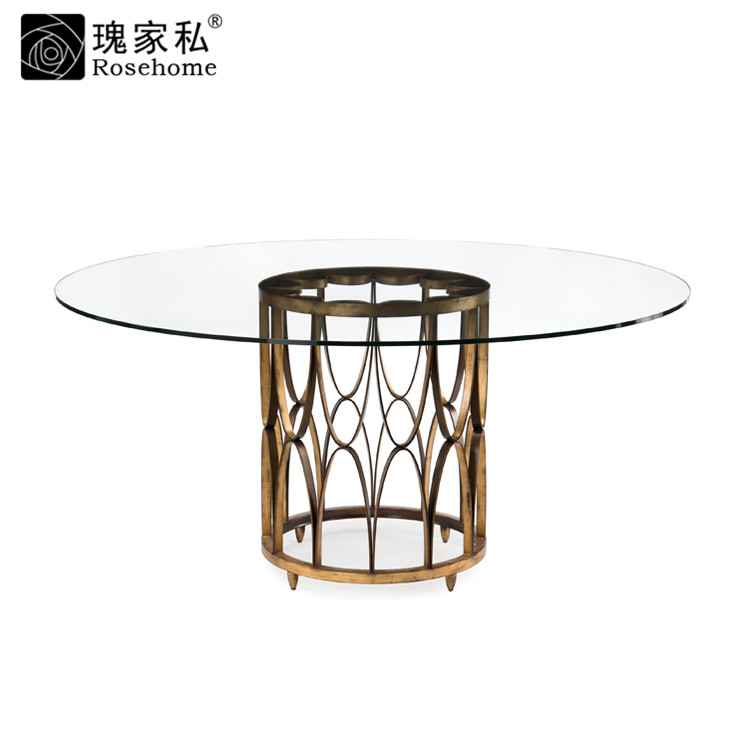 Rose end custom furniture dining room furniture american country metal circular dining table dining table dinner table desk desk