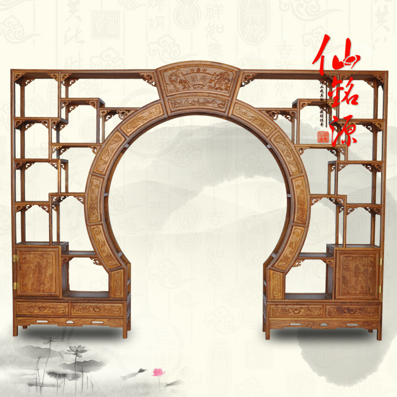 Rosewood mahogany antique furniture of ming and qing on portal shelf off chinese antique wood display stand