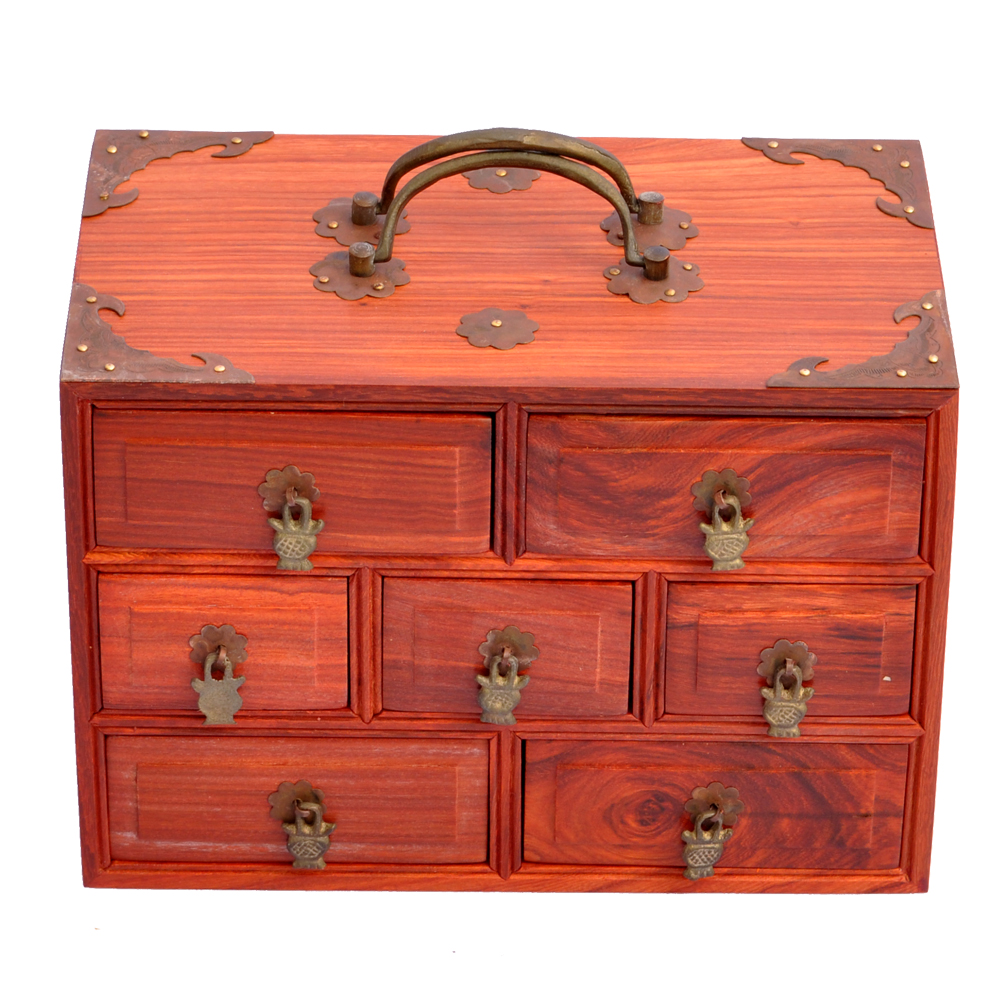 Nice ... Rosewood Mahogany Jewelry Box Storage Box Wooden Rectangular Wooden Box  Married Red Wood Mahogany Box Packer