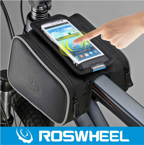 Roswheel bike bicycle tube chartered beam front pack double saddle bag touch phone package of equipment accessories