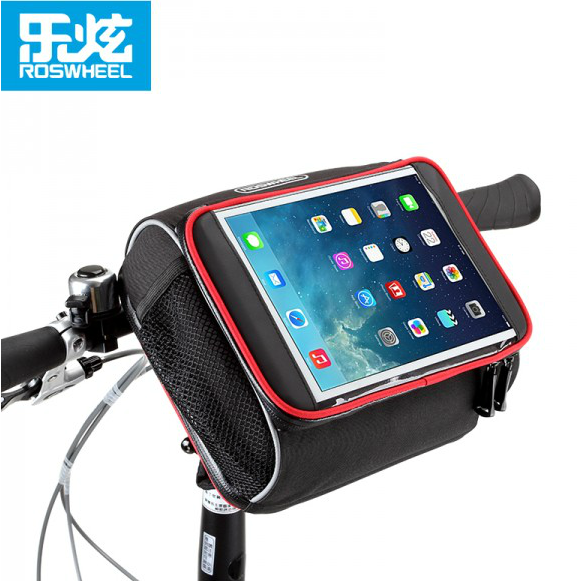 Roswheel le xuan bicycle handlebar bag front pack ipad tablet small folding folding bike equipment