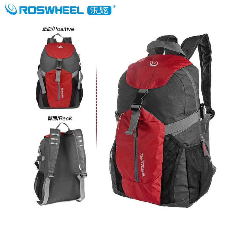 Roswheel le xuan bicycle riding backpack shoulder bag sports outdoor sports shoulder bag folding bag large capacity backpack