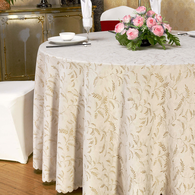 Round tablecloth hotel banquet cloth chinese custom thick jacquard tablecloth restaurant tablecloths tablecloths coffee table square table