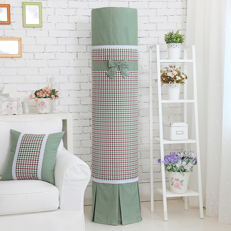 Royal line of cylindrical round air conditioning cover midea gree cool i i i platinum statue row haier emperor statue hisense kelon little green Plaid