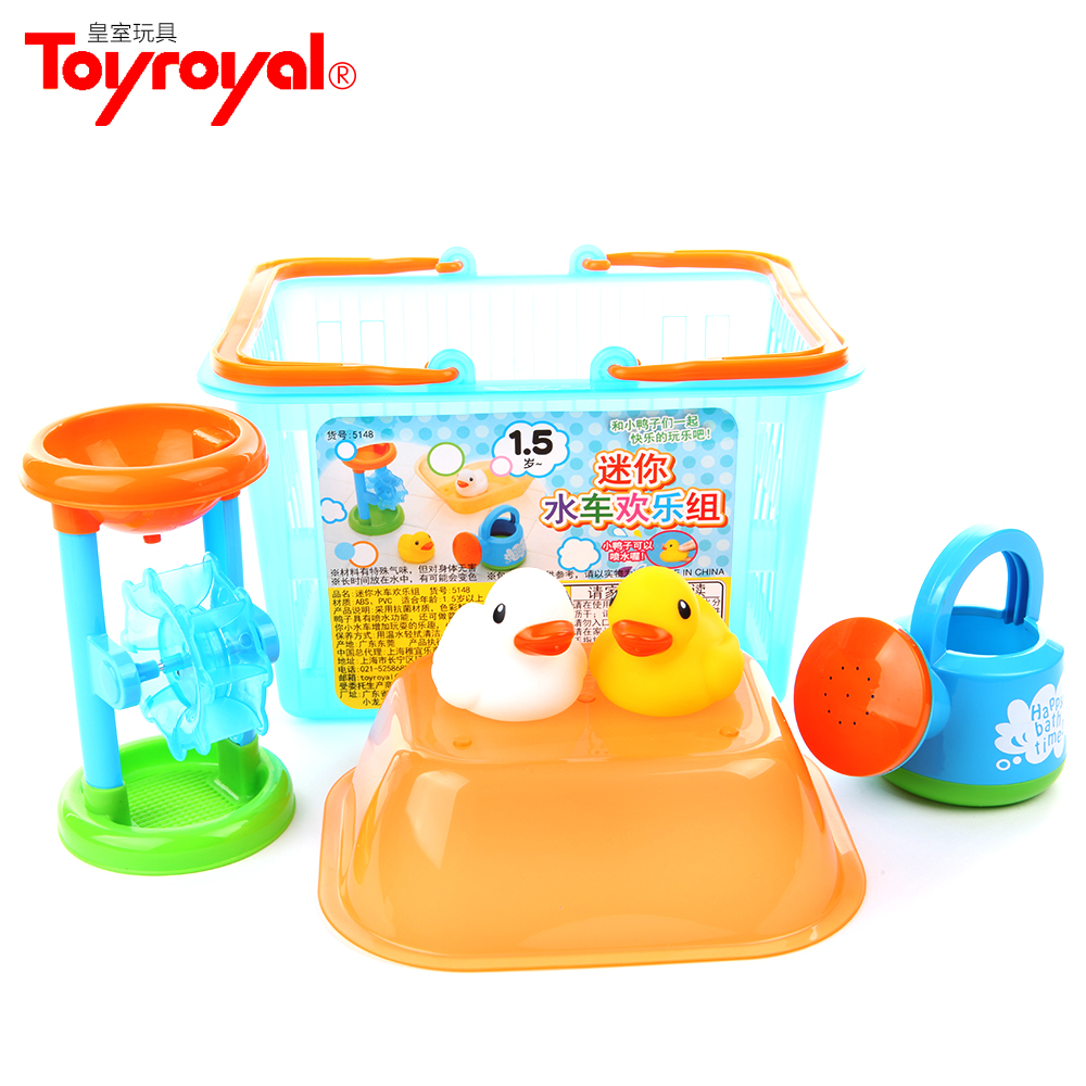 Royal toyroyal children playing in the water toys series of mini tankers kippumjo kettle soft bath