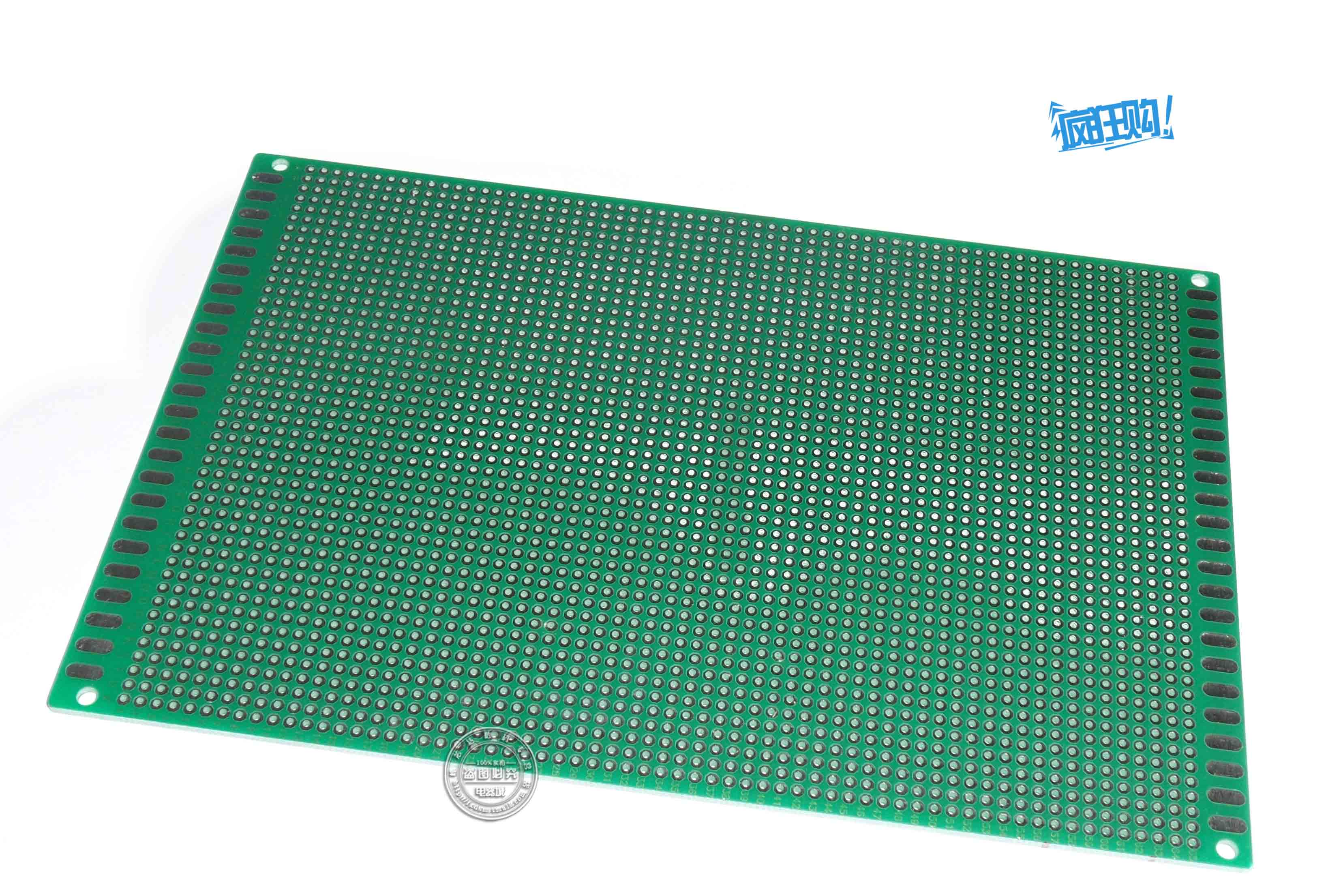 Rui broadcast shu green sided circuit board pcb board 12*18 cm cable line spacing 2.54mm tinplating hole board