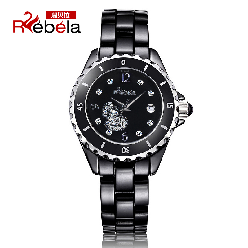 Ruibei la authentic korean fashion white ceramic watches ladies diamond ladies watch jelly watch quartz watch 5025