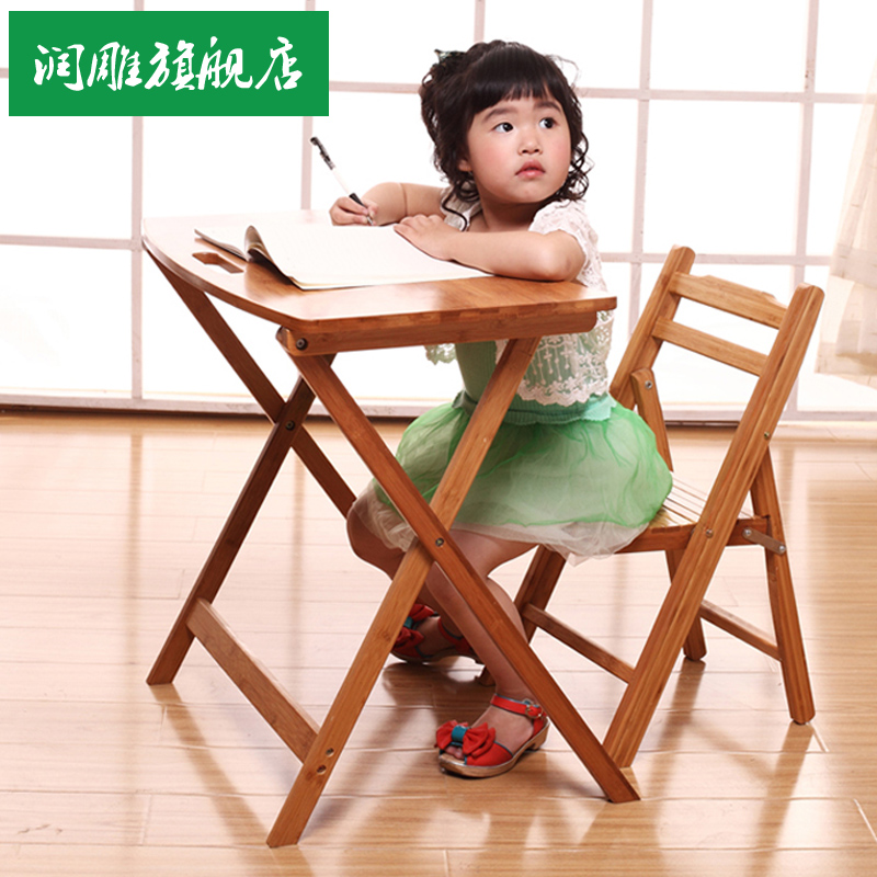 Run carved bamboo table small folding table desk table desk free shipping children learning desk simple wood table small desk