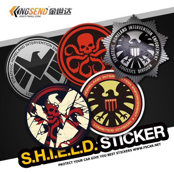 S.h.i.e.l.d. bureau agents car stickers personalized car stickers car stickers modified fuel tank 92 93 95 97 hot glue stick