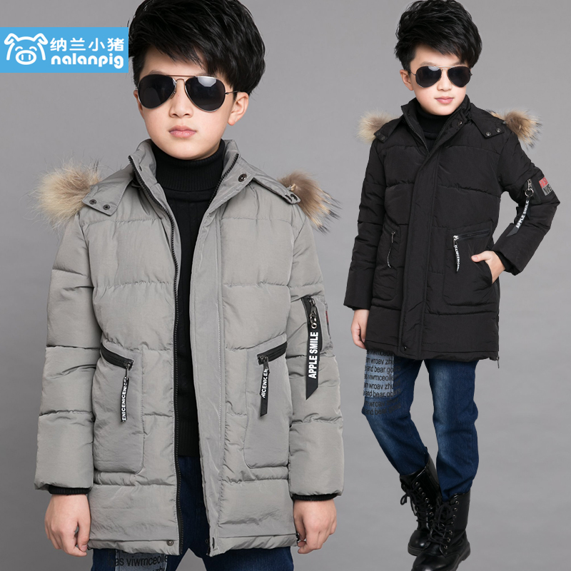 [Sale] 6 fall and winter clothes coat jacket boys 7 thick 2016 of new 8 9 big virgin cotton padded 12 Years of age