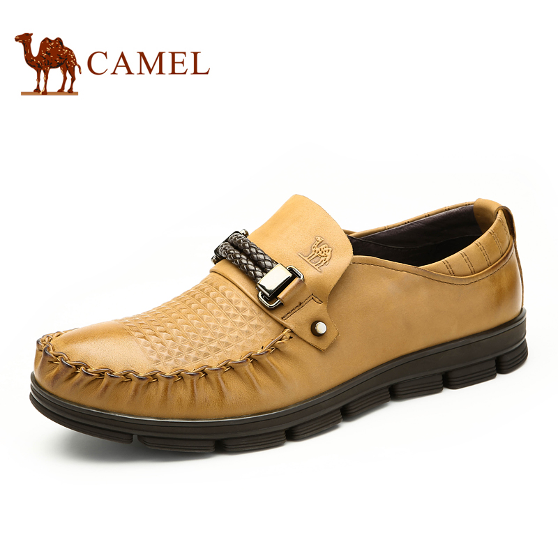 [Sale] camel/camel men's autumn and winter buckle sets foot leather shoes tide korean version of the carrefour shoes