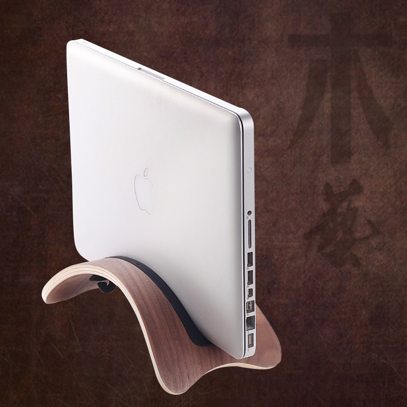 Samdi apple macbook air pro 13 computer chassis 15 wood vertical stand laptop stand