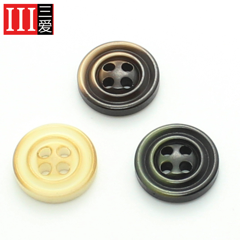 Sanai 11.5mm12. upscale clothing accessories shirt shirt buttons resin buttons buttoned monopoly 5mm