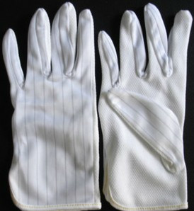 Sand slip antistatic antistatic gloves antistatic gloves white gloves