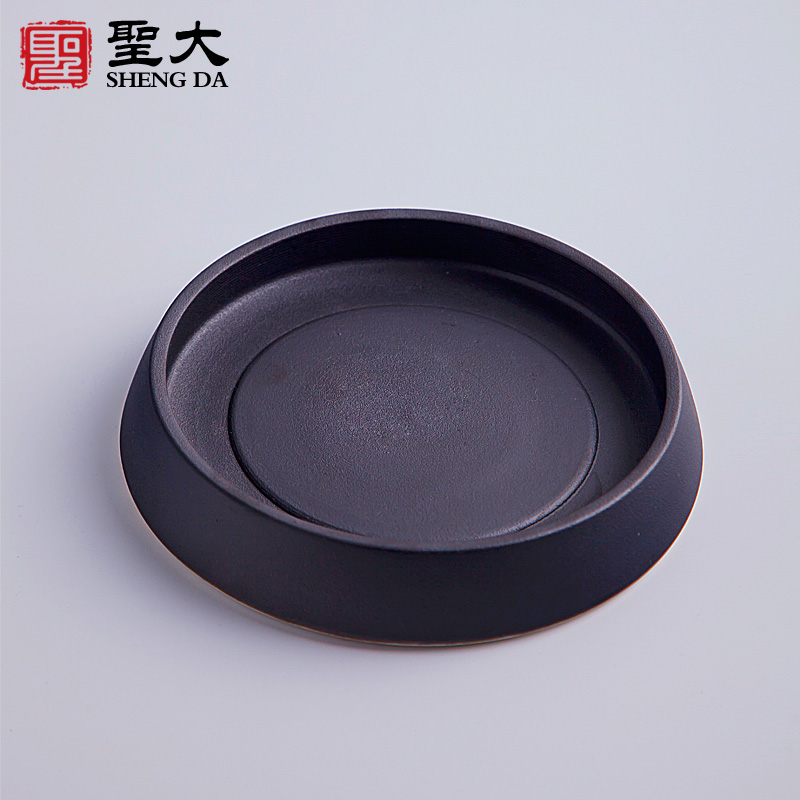 Santa ceramic stoneware pot pot bearing bracket dry foam tray japanese tea taiwan kung fu tea accessories raise pot saucer plate Tea cheng