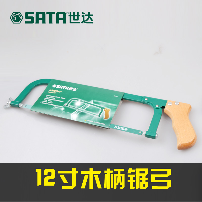Sata cedel hardware wooden handle hacksaw frame saw woodworking hand saw bow solid beech wood handle bars 93413