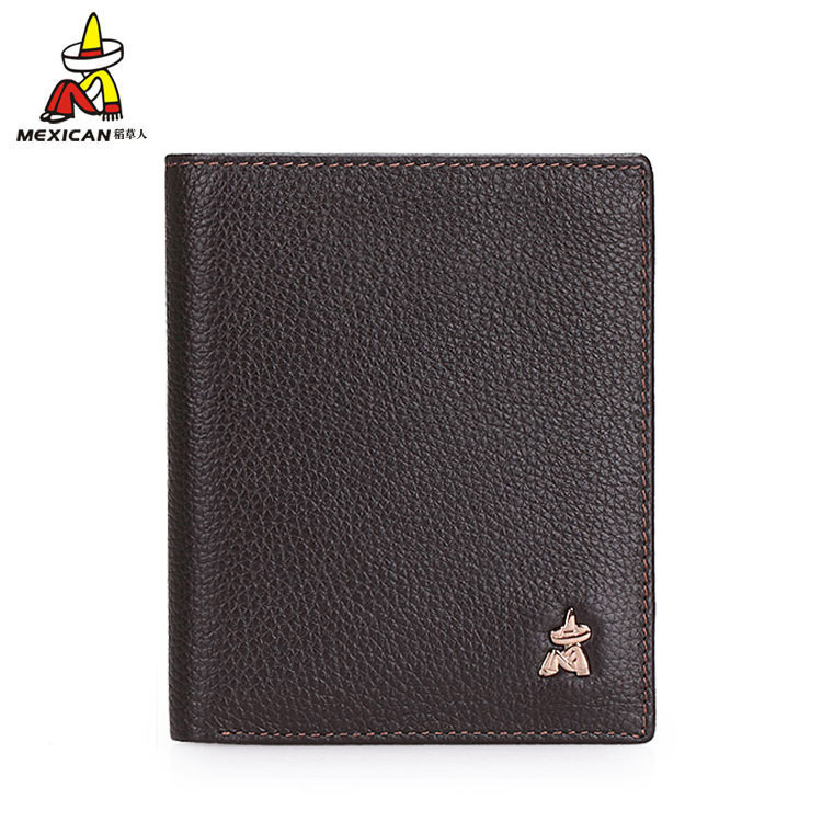 Scarecrow genuine leather wallet men short paragraph korean tidal vertical section wallet leather wallet men's business casual thin section