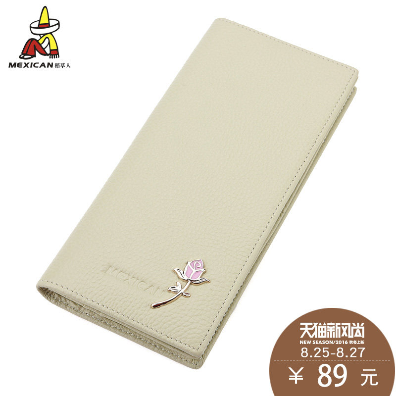 Scarecrow ladies leather wallet female long section 2016 new fashion first layer of soft leather wallet leather wallet bills folder