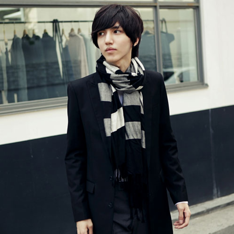 af57b098b13 Get Quotations · Scarf scarves tide male korean men male student young man  in autumn and winter male korean