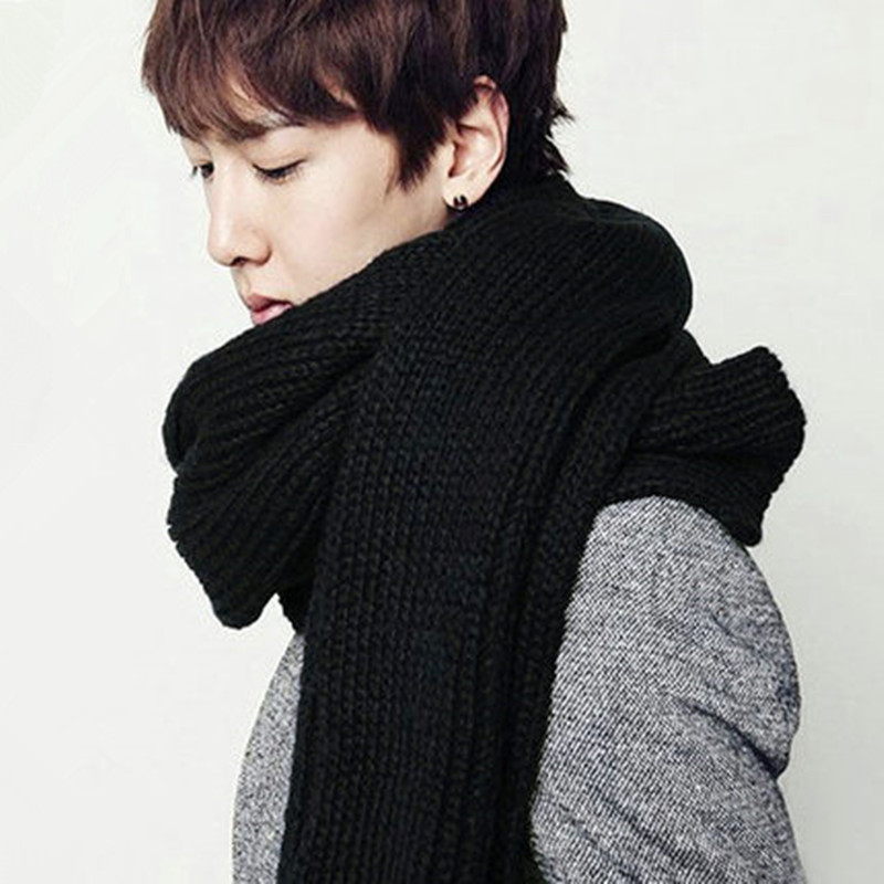 Scarves korean female winter wool scarves solid color long section of the state men's fall and winter scarves korean wild influx of male students