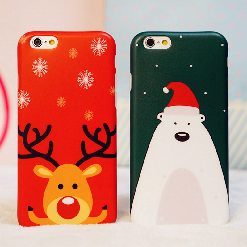 Scrub 4.7 creative new year elk christmas iphone6 phone shell mobile phone shell silicone apple 6plu s phone sets couple