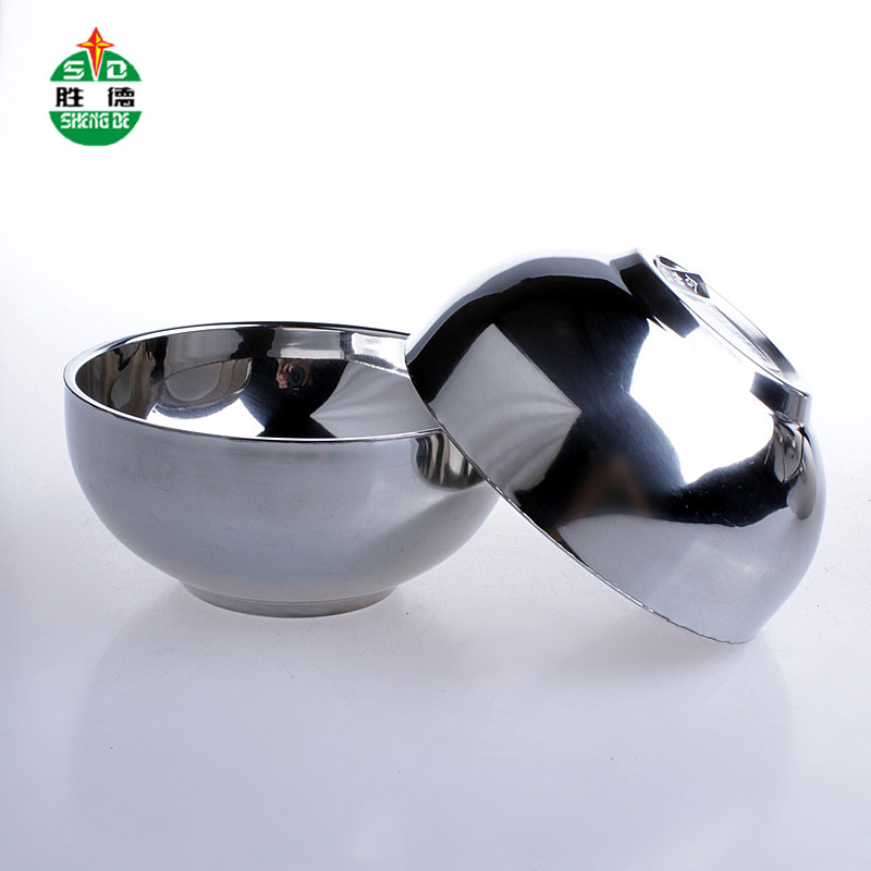 Sd/shengde double insulated stainless steel bowl bowl against hot bowl stainless steel welding edge bowl kindergarten Wrestling