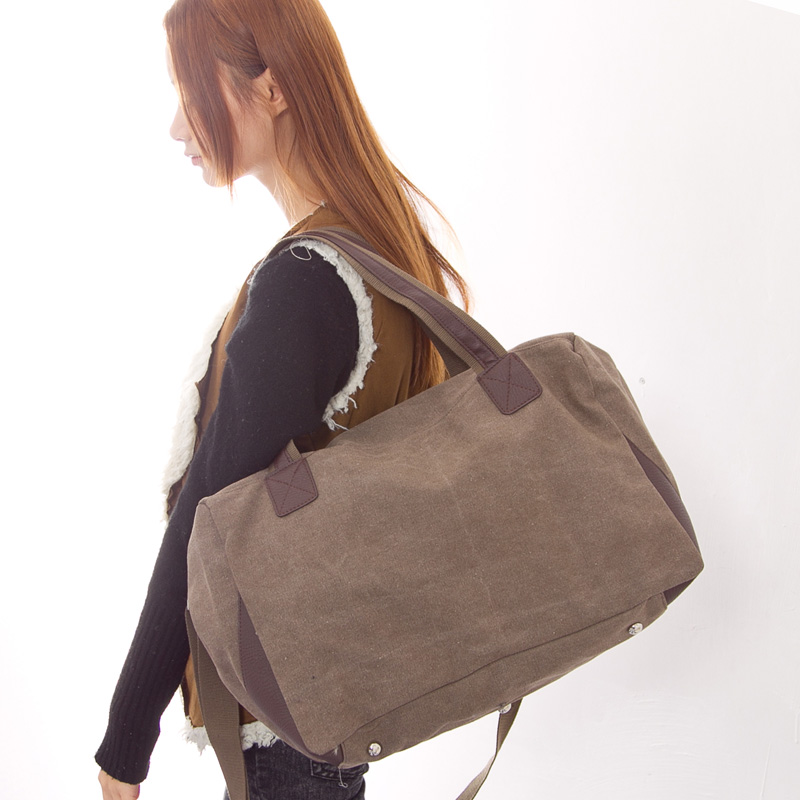 Sea exquisite new korean handbag shoulder bag messenger bag retro package portable travel bag canvas bag influx of women