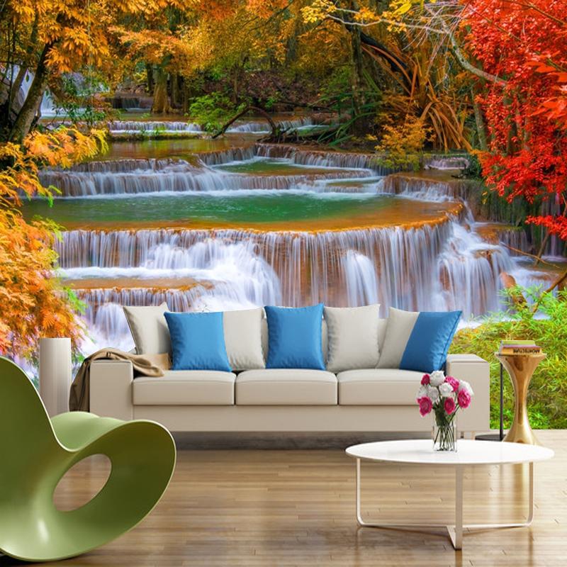 Get Quotations Seamless 3d Large Mural Wallpaper Bedroom Living Room Sofa Bed Tv Backdrop Waterproof Natural Scenery