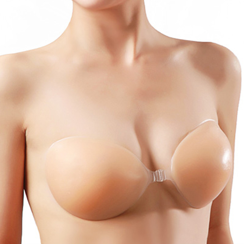 Seamless bra invisible silicone milk paste silicone breast care chest wedding dress underwear gather small chest chest paste thickening primer