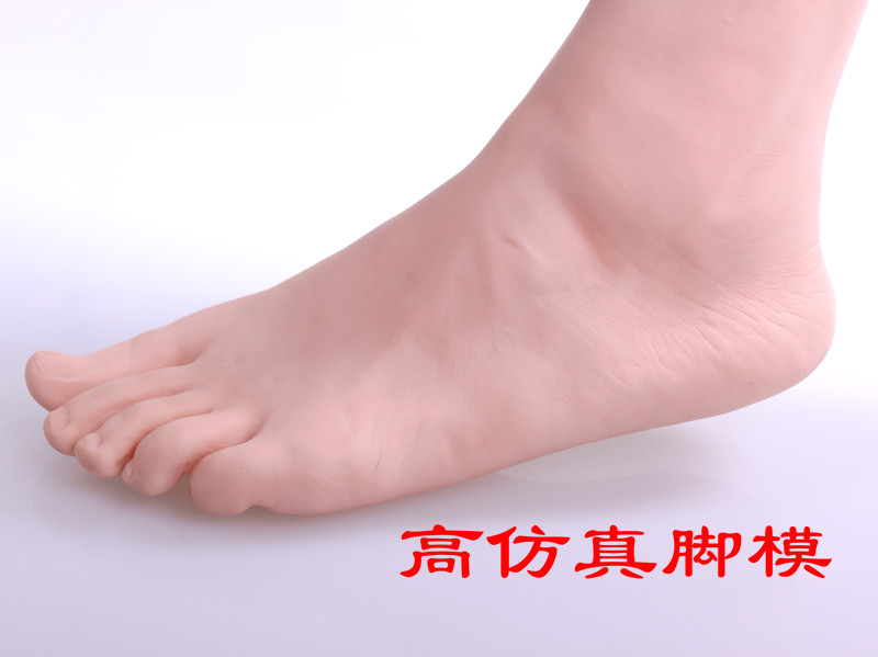 Seamless foot model leg mold plastic mold socks socks for men and women fake thick plastic magnet children's feet