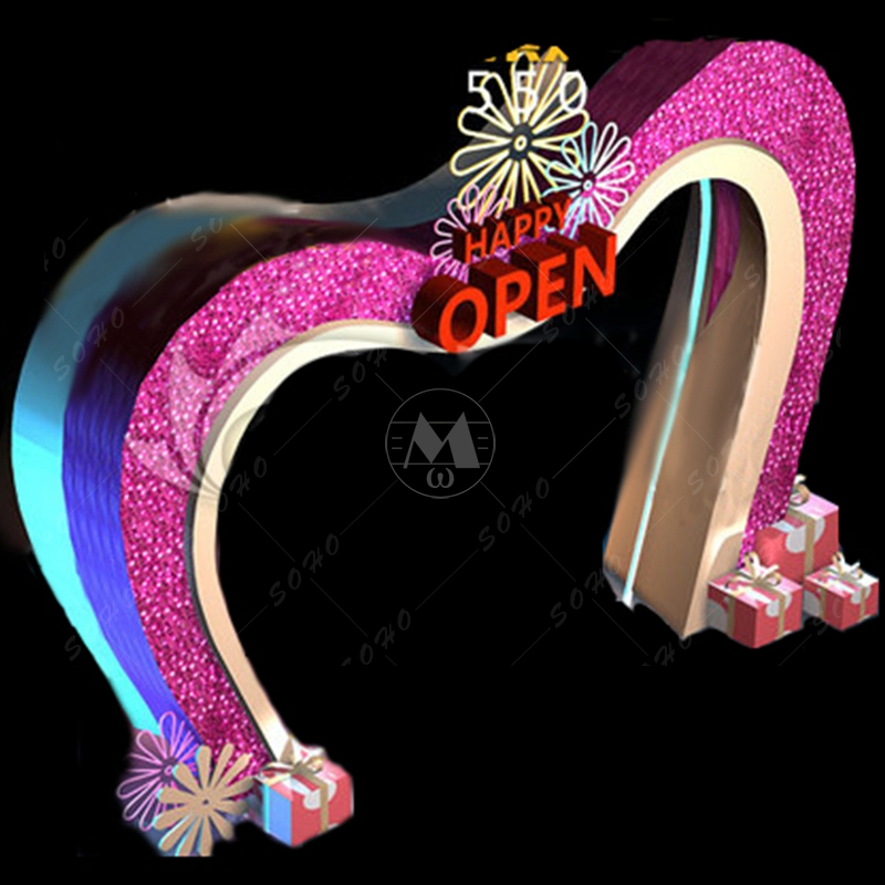 Search netherlands original design door head red love 2016 new mall christmas decoration door door head decoration