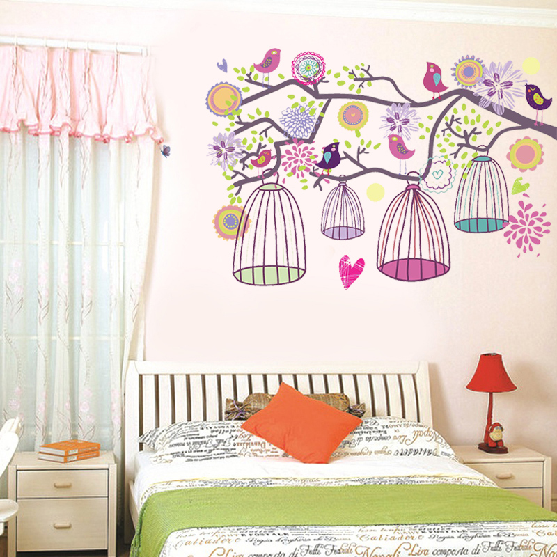 Self adhesive wall stickers bedroom cozy living room tv background wall stickers creative decorative stickers affixed between housing dream garden