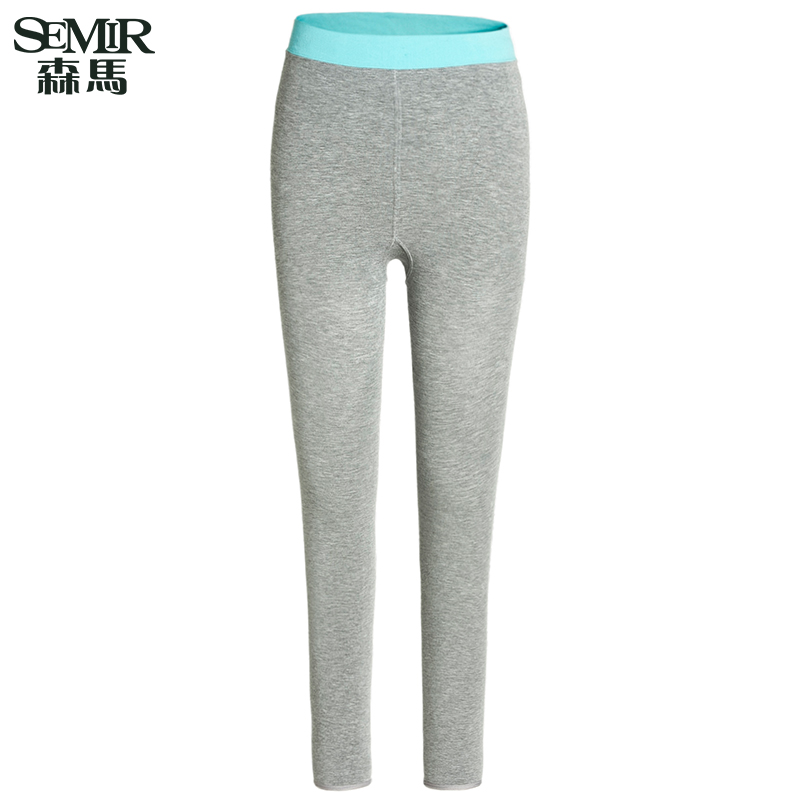 Semir 2016 hitz ladies simple spell color leggings slim waist hip bottoming pants pantyhose tide
