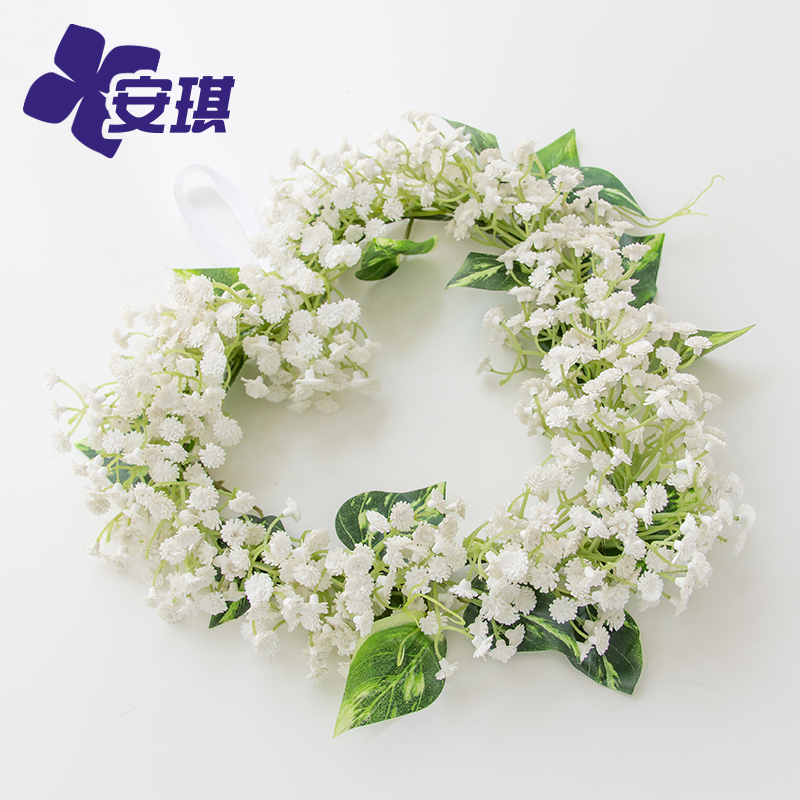 Sen department of outdoor wedding hearts stars bridesmaid new hair accessories simulation flower garland wall ornaments/door trim ornaments