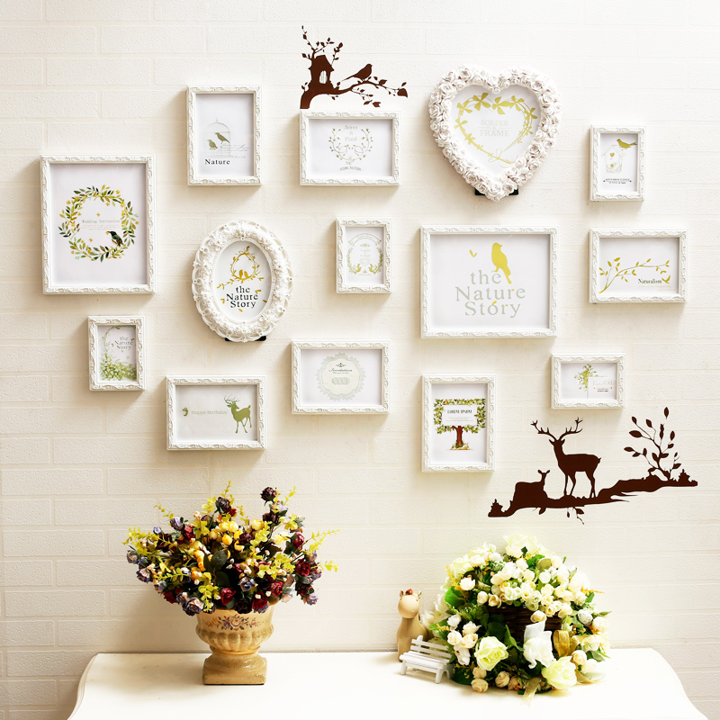 Sen tuya carved living room photo wall photo wall photo frame wall creative combination bedroom sofa backdrop special