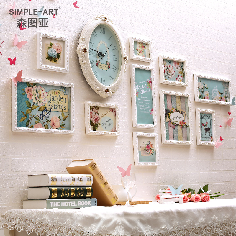 Sen tuya photo wall korean + frame photo wall stickers children's room bedroom wall living room wall creative group