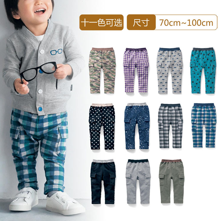 909f0f38c3 Get Quotations · Senshukai baby baby clothes for men and women pull plush  cloth frock trousers A26415
