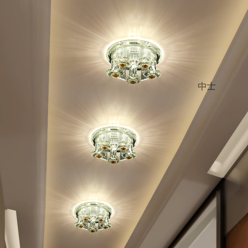 Sergeant led entrance lights aisle lights corridor entrance foyer lights creative crystal ceiling spotlights downlights