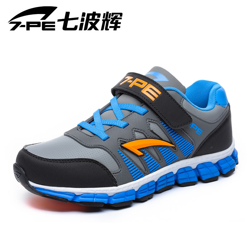 Seven wave hui nan shoes genuine leather sports shoes for children 2016 spring and autumn male big boy casual shoes breathable slip