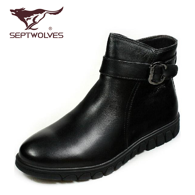 Seven wolves [counter genuine] 13 winter england men's casual shoes breathable male cotton boots boots 633062444