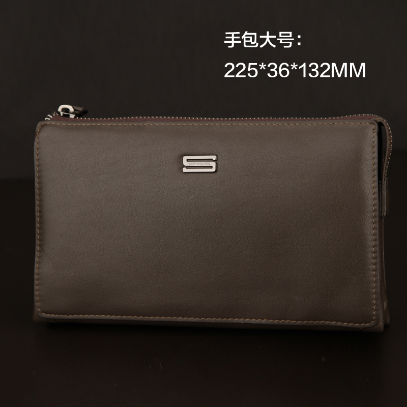 Seven wolves men's hand bag man leather man bag leather soft leather clutch bag business bag clutch double team of the new